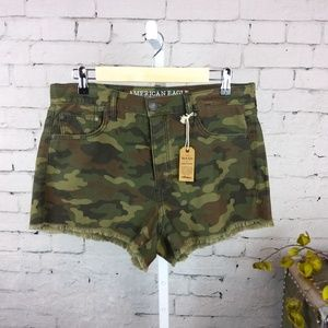 NWT American Eagle Outfitters camo cut off shorts